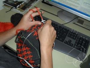 Tastatur und Stricken