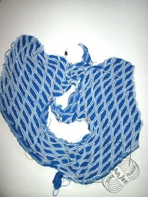 Blau-weißes Wellenmuster