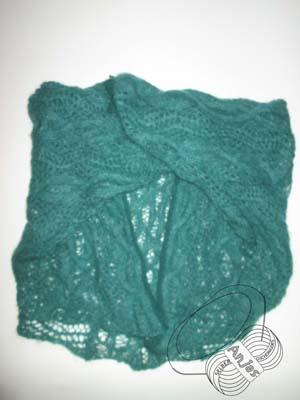 Grüner Kid-Silk-Jacke